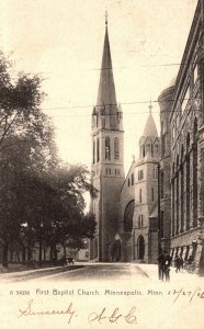 Minnesota Minneapolis First Baptist Church 1906 Rotograph