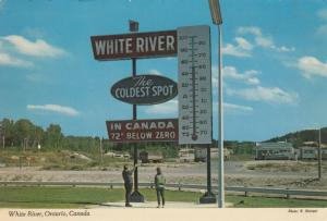 WHITE RIVER , Ontario , Canada , PU-1970 ; Large Thermometer, Hwy 17