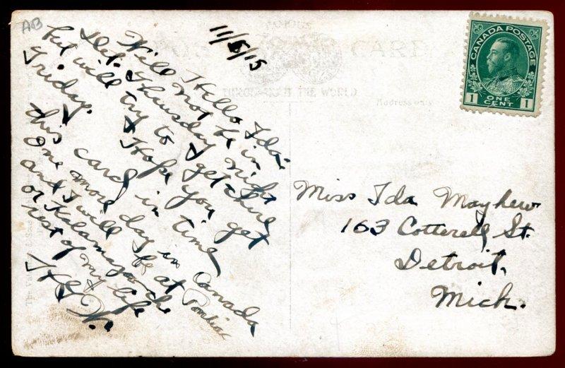 603 - PORT STANLEY Ontario Postcard 1915 Break Water. Boats