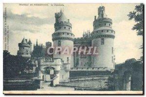 Old Postcard Chateau de Pierrefonds Levis Bridge