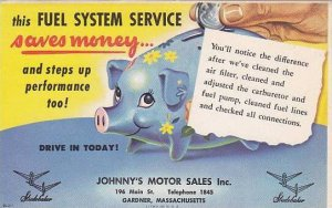 Johnny's Motor Sales Co., GARDNER , Massachusetts , 1920-30s :Fuel system ser...