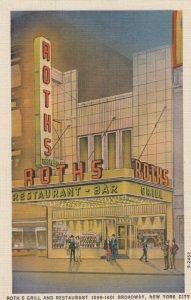 NEW YORK CITY, 1930-40s ; Roth's Grill & Restaurant