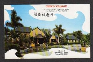 WELLESLEY MASSACHUSETTS MA Chin's Village Restaurant Postcard