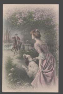 106984 ENGLISH SETTER Belle HORSE by WICHERA Vienne MUNK 580