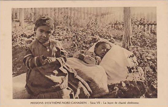 NORD CANADIAN , la lecon de charite chretienne , 1910s