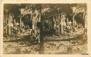 1925 New Mexico Cave Carlsbad Caverns Interior RPPC real photo postcard 11407