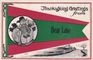 Thanksgiving Greetings From Bear Lake Pennsylvania 1916