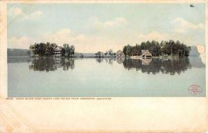 Fulton Chain New York Cedar Island Camp Waterfront Antique Postcard K59348