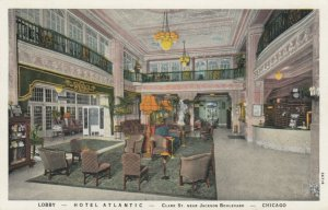 CHICAGO, Illinois, PU-1933; Lobby, Hotel Atlantic