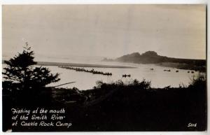 RPPC, Fishing at Mouth of Smith River, Castle Rock Camp