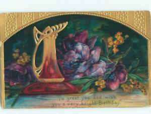 Divided-Back BEAUTIFUL FLOWERS SCENE Great Postcard AA2910