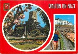 Postcard United Kingdom walton on naze multi view the parish church esplanade