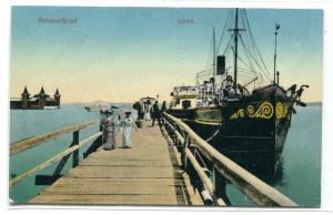 Steamer Dock Kikoto Balatonfüred Hungary 1913 postcard