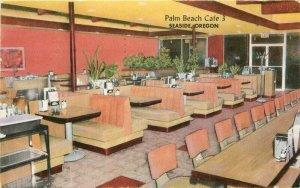 Hansen Palm Beach Cafe  3 Embers Restaurant Seaside Oregon Postcard 20-3970