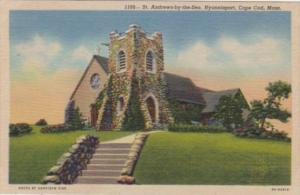 Massachusetts Cape Cod Hyannisport St Andrews-by-the-Sea Church Curteich
