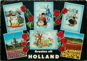 Netherlands dutch sceneries multi views high quality Muva publising postcard