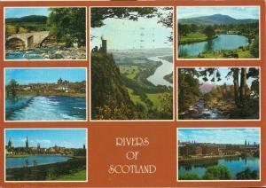 United Kingdom, Rivers of Scotland, 1988 used Postcard