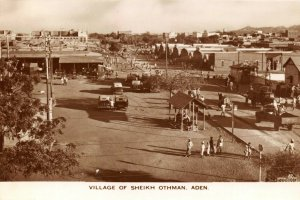 Aden Yemen Middle East Real Photo Postcard, Village of Sheikh Othman DU9