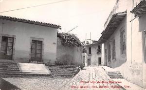 Mexico Old Vintage Antique Post Card Called de Road Bareena Real Photo, Unused
