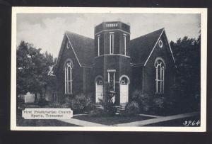 SPARTA TENNESSEE FIRST PRESBYTERIAN CHURCH ANTIQUE VINTAGE POSTCARD