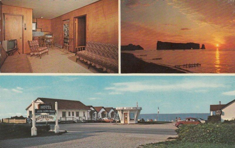 PERCE , Quebec, 1974 ; H/Motel Bleu Blanc Rouge