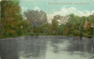 Sioux Falls South Dakota~Placid Big Soo River at Lien's Park~1909 Postcard