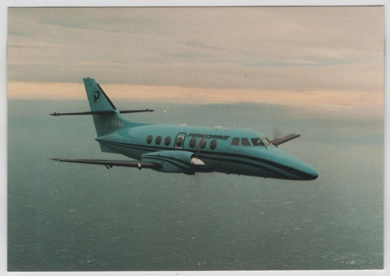 Peregrine Air Services Airline BA Jetstream 31 Aircraft In Flight Postcard