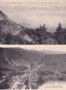 Morez Jura Roche Au Dade 2x Mountain Aerial French Postcard s