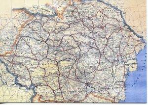 ROMANIA: MAP - ROMANIA IN 1920
