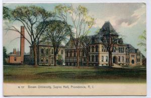Sayles Hall Brown University Providence Rhode Island 1907 postcard