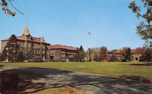 Lafayette Indiana~Purdue University Oval~Campus Buildings~1950s Postcard