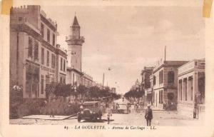 La Goulette Tunisia Street Scene Antique Postcard J55996