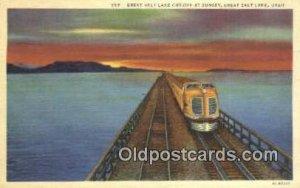 Great Salt Lake Cut Off, Utah, UT USA Trains, Railroads Postcard Post Card Ol...