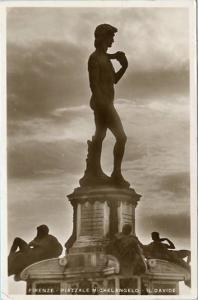 Italy - Florence, Michaelangelo's David   *RPPC