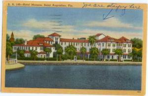 Linen of Hotel Monson in Saint Augustine Florida FL 1958