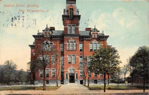 E92/ New Philadelphia Ohio Postcard Tuscarawas 1909 Central School Building