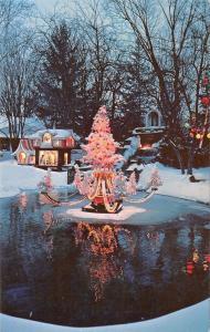Oriskany New York~Trinkaus Manor Lodge~Fountain Christmas Decorations~1979