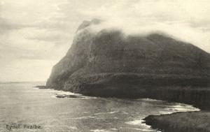 denmark, Faroe Islands, KVALBØ HVALBA, Eydet, Panorama (1910s)