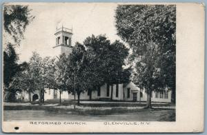 GLENVILLE NY REFORMED CHURCH 1908 ANTIQUE POSTCARD