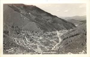c1940 Real Photo Postcard; Birdseye View Wallace ID Shoshone Co. Tabor Unposted