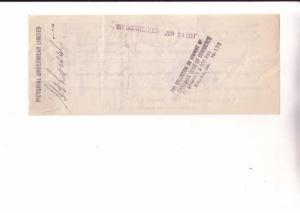 Cheque, Bank of Commerce, 1933, Pictorial Underware, Montreal, Quebec, Stamp
