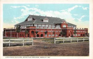 Missouri Mo Postcard c1910 SEDALIA Pettis County c1910 LIVE STOCK PAVILION FAIR1