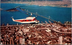 California CA Oakland Helicopter Airlines San Francisco Postcard Old Vintage PC