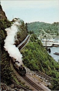 Horse Shoe Bay BC Royal Hudson #2860 Train Railway Ted Wickson Postcard G37