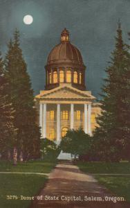 SALEM, Oregon, 1900-1910's; Dome of State Capitol at Night