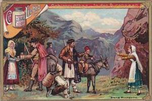 Liebig Vintage Trade Card S490 Mountain People I  1896 No 4 Pyreneese