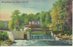 Dam At Songo Lock, Sebago Lake, Me.