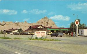 Badlands National Monument South Dakota~Cedar Pass Lodge~Texaco Gas Pumps~'70 Pc