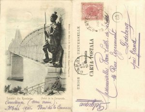 romania, CERNAVODĂ FETEȘTI, Podul Regele Carol I, Danube Bridge (1901) Postcard