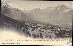 swiss, Dent Morcies Dent Midi Glacier Trient Mont-Blanc